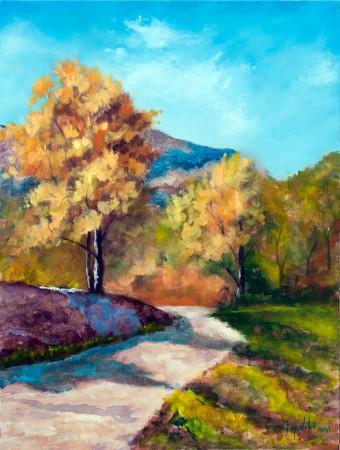 Sunny Autumn - Oil Painting on HDF by artist Darko Topalski
