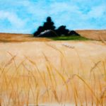 Tree in a Wheat Field – Oil Painting
