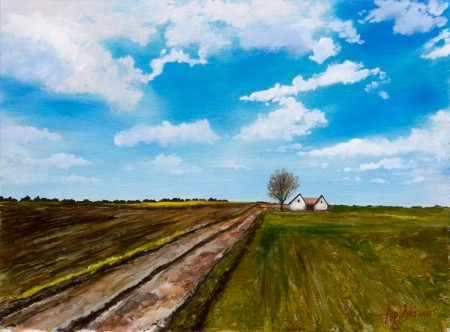 Vojvodina - Oil Painting on HDF by artist Darko Topalski