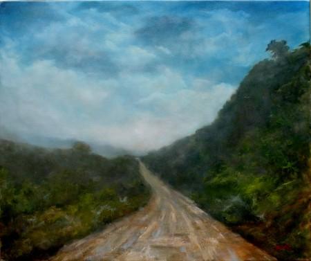 On the Halfway - Original Oil Painting on Canvas by artist Darko Topalski