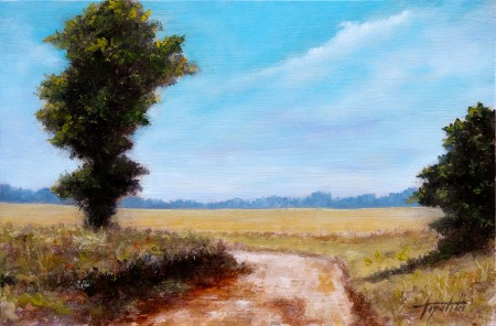 Country Road - Original Oil Painting on HDF by artist Darko Topalski