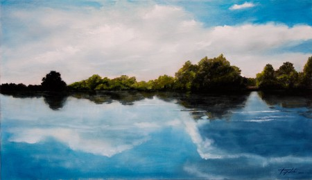 River of Dreams - Original Oil Painting on Canvas by artist Darko Topalski