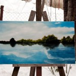 at Easel - River of Dreams - Original Oil Painting on Canvas by artist Darko Topalski