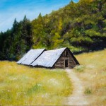 Mountain Cottages - Original Oil Painting on HDF by artist Darko Topalski