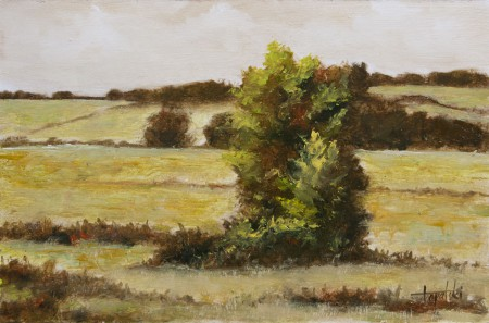 Mono Landscape - Oil Painting on HDF by artist Darko Topalski