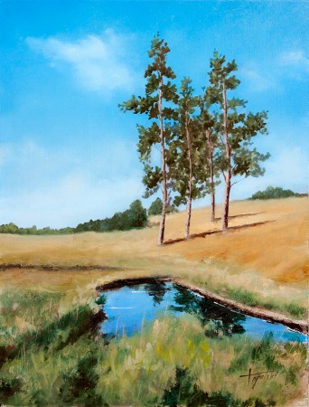 Serbia - Zlatibor - Original Oil Painting on HDF by artist Darko Topalski