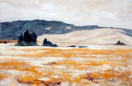 Orange County - Original Oil Painting on HDF by artist Darko Topalski