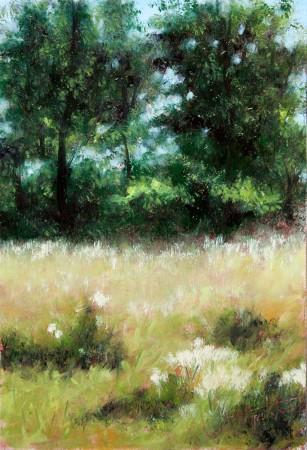 Fine Art - Forest Park - Original Oil Painting on HDF by artist Darko Topalski