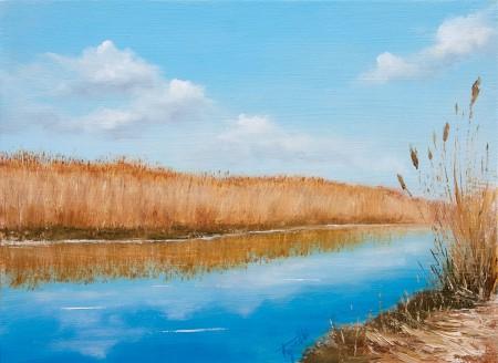 Jegricka River - Original Oil Painting on HDF by artist Darko Topalski