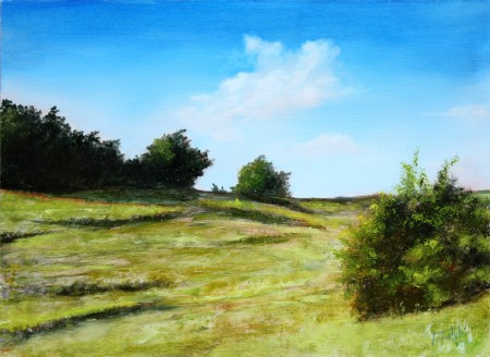 Near Onagrinum - Original Oil Painting on HDF by artist Darko Topalski