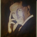 Finished – Nikola Tesla-Portrait Painting in Progress