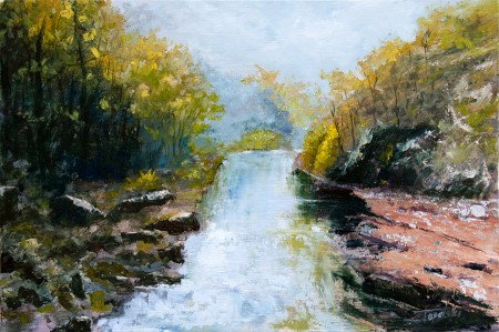 In the Forrest - Original Oil Painting on HDF by artist Darko Topalski