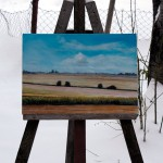 at Easel - Vojvodina-Plain - Original Oil Painting on Canvas by artist Darko Topalski