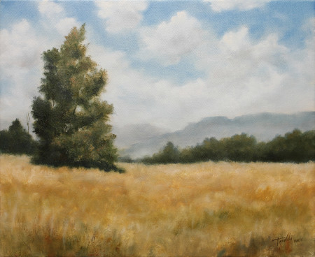 Fine Art - Hills and Heights - Original Oil Painting on Canvas by artist Darko Topalski