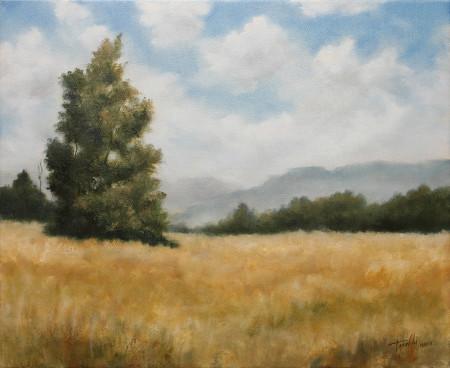 Fine Art - Hills and Heights - Original Oil Painting on Canvas by artist Darko Topalski