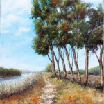 By the River – Oil painting
