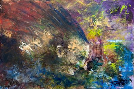 Fine Art - Chief - Original Oil Painting on HDF by artist Darko Topalski