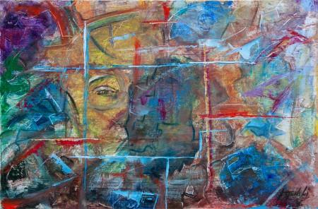 Fine Art - Point of View - Original Oil Painting on HDF by artist Darko Topalski