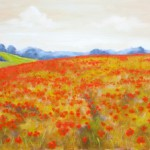 Red Poppy Field – Oil Painting