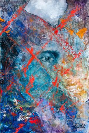 Fine Art - Behind - Original Oil Painting on HDF by artist Darko Topalski