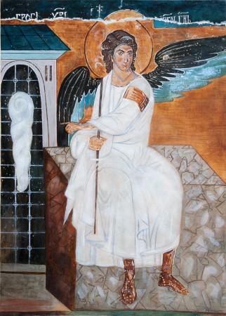 Fine Art - Beli Andjeo (White Angel, Monastery Mileseva) - Original Oil Painting on Canvas by artist Darko Topalski