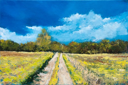 Fine Art - Fields Road - Original Oil Painting on HDF by artist Darko Topalski