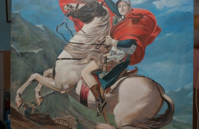 Novak Djokovic – Nole Crossing the Alps – Oil painting