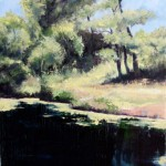 On the River Pond – Oil Painting