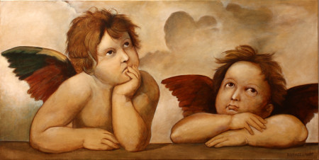 Fine Art - Raphael's Angels - Original Oil Painting on Canvas by artist Darko Topalski