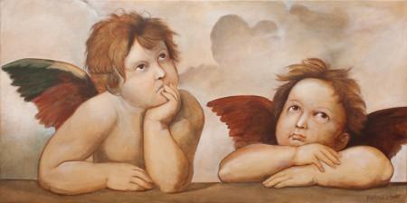 Fine Art - Raphael's Angels - Original Oil Painting on Canvas by artist Darko Topalski