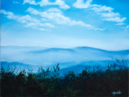 Fine Art - Fortress far Away - Original Oil Painting on HDF by artist Darko Topalski