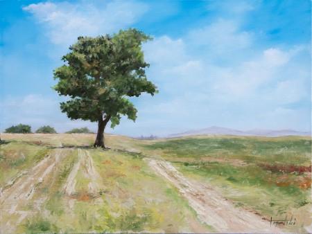 Fine Art - Somewhere in Srem - Original Oil Painting on HDF by artist Darko Topalski