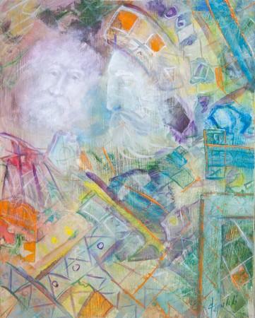 Fine Art - Through the Prizm - Original Oil Painting on HDF by artist Darko Topalski