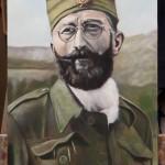"Dragoljub ""Draža"" Mihailovic-Original Oil Painting on Canvas-by topalski-on easel"