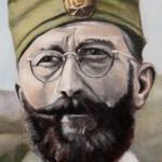"Dragoljub ""Draža"" Mihailovic-Original Oil Painting on Canvas-by topalski-detail"