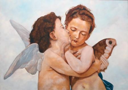 Fine Art - Angels after Bouguereau  - Original Oil Painting on Canvas by   artist Darko Topalski