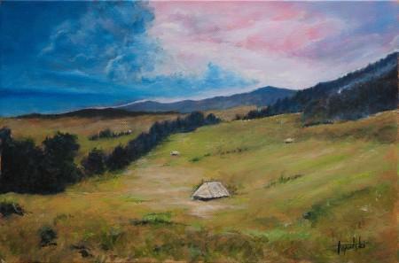 Fine Art -  Hills - Original Acrylics and Oil Painting on Canvas by artist Darko Topalski