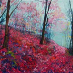 Purple Forest – Oil Painting