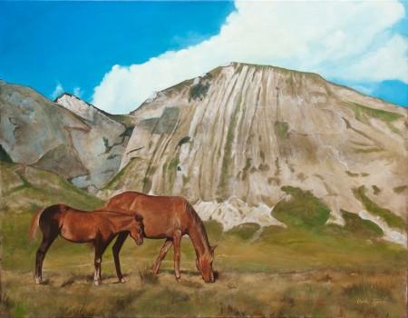 Fine Art - Wild-Horses - Original Oil Painting on Canvas by artist Darko Topalski