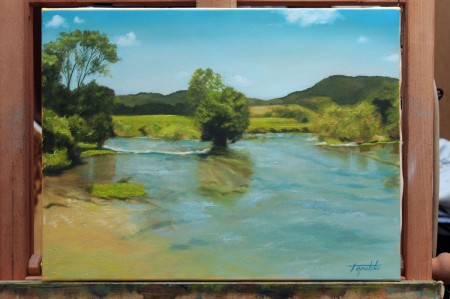 Fine Art - River Una-Original Oil Painting on Canvas by artist Darko Topalski