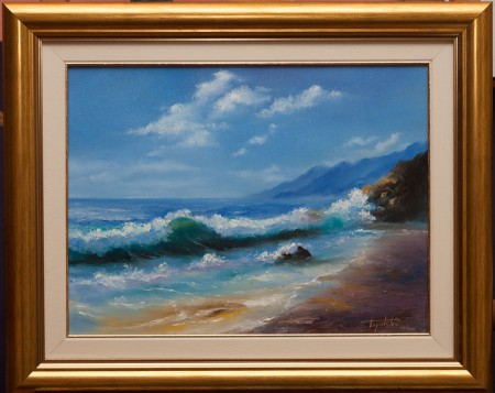 Fine Art - By the Coast - Original Oil Painting on Canvas by artist Darko Topalski