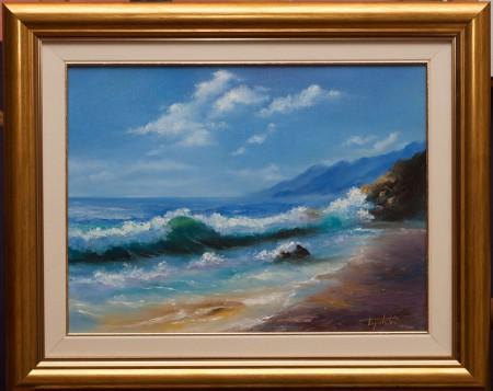 Fine Art - By the Coast - Original Oil Painting on Canvas by artist Darko Topalski
