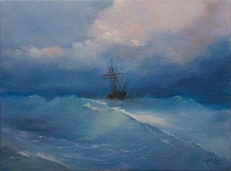 Fine Art - Sailing -Original Oil Painting on Canvas by artist Darko Topalski