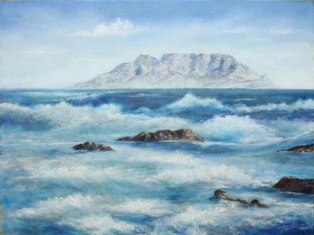 Fine Art - Sea and Waves - Original Oil Painting on Canvas by artist Darko Topalski