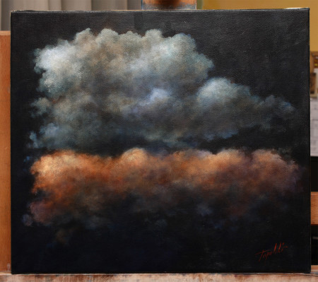 Clouds - Original Oil Painting on Canvas by artist Darko Topalski