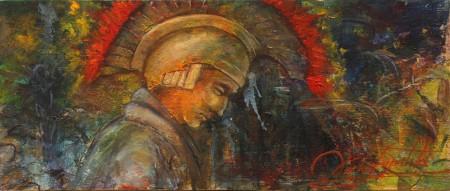 Fine Art - Guardian - Original Oil Painting on HDF by artist Darko Topalski
