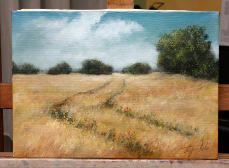 The Field - Original Oil Painting on Canvas by artist Darko Topalski