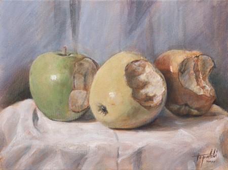 I-Painting Apple - Original Acrylic Painting on Canvas by artist Darko Topalski