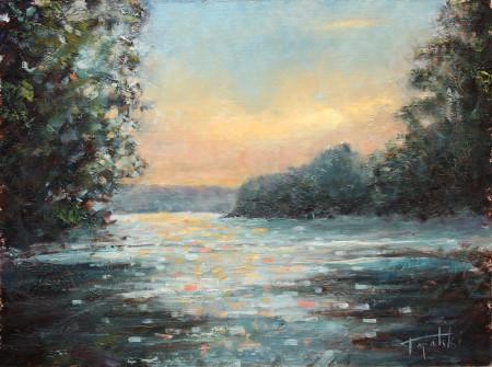 Fine Art - Discovering River - Original Oil Painting on HDF by artist Darko Topalski