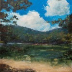 Mountain Lake – Oil Painting